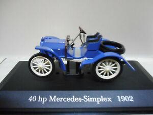 車・バイク, レーシングカー  40 hp mercedessimplex 1902 deagostini ixo 143