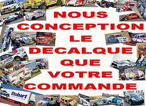 【送料無料】ホビー 模型車 車 レーシングカー デカールコマンドdecal 143 nous conception le decalque que votre commande 02画像