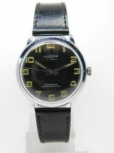 腕時計, 男女兼用腕時計  montre bracelet luxor cadran noir vintage fhf st 96, vintage watch