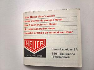 腕時計, 男女兼用腕時計  ultra rare vintage heuer diver 8441 instruction manual