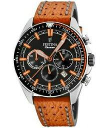 【送料無料】腕時計 フェスティナメンズクロノグラフレザーストラップウォッチ festina mens chronograph leather strap watch f203774