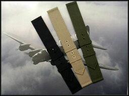 【送料無料】腕時計 カーキキャンバスミルアーミーステッチウォッチストラップ22mm khaki canvas wwii 2pc mil army nato stitched watch strap iw suisse 16 18 20