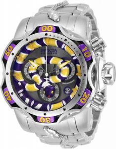 腕時計, 男女兼用腕時計  invicta reserve 52mm king venom yellow purple snake swiss chrono bracelet watc