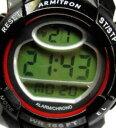 【送料無料】腕時計 アーミトロンデジタルクロノアクリルブラックプラスチックバット