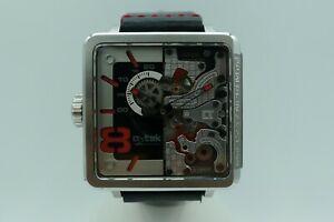 腕時計, 男女兼用腕時計  atek durch 1802 open heart automatic skeleton 41mm 30m complete rare