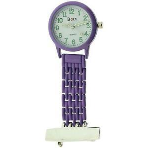 腕時計, 男女兼用腕時計  boxx ladies gents analogue purple metal professional nurses fob watch boxx362