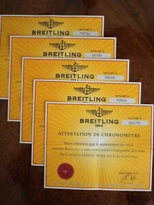 腕時計, 男女兼用腕時計  breitling cosc paperwork diploma part of set manual book guide booklet var 2 4