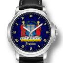 【送料無料】腕時計 ダブリンコートオブアームズアイルランドクリスマスdublin coat of arms ireland gents mens wrist watch christmas day gift engraving