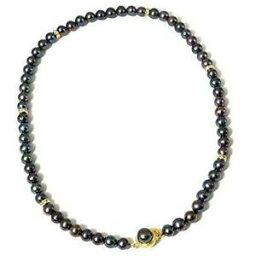 【送料無料】ジュエリー・アクセサリー ネックレストックティンテッドブラックピーコッククロージングtoc teinte noir paon de culture perle collier 457cm deguisement fermoire