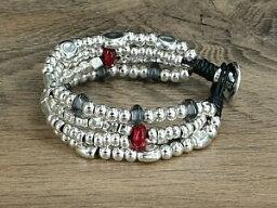 【送料無料】ジュエリー・アクセサリー パルセラムジャーザマクイクエロレザーブレスレットpulsera mujer zamak y cuero leather bracelet 50 7