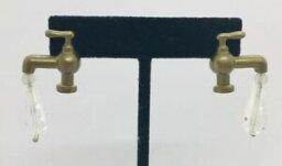 【送料無料】ジュエリー・アクセサリー リンダヘッシュヴィンテージメタルクリスタルロビネットコスチュームイヤリングペンダントlinda hesh vintage metal amp; cristal robinet costume boucles doreilles pendante