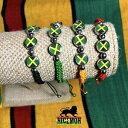 【送料無料】ジュエリー・アクセサリー ジャマイカフラッグレゲエブレスレットカフジャーウスシアンイリエjamaique drapeau reggae bracelet poignet manchette jah usian un amour irie