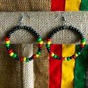 【送料無料】ジュエリー・アクセサリー ジャマイカイヤリングラスタラスタファリエンプレスレゲエboucles doreilles perle jamaique rasta rastafari imperatrice reggae