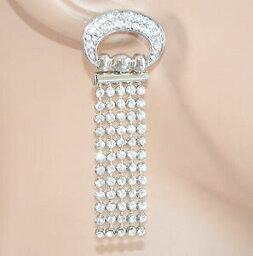 【送料無料】ジュエリー・アクセサリー オレッキーニストラスアルジェントクリスタリブリランティニペンデンティイヤリングorecchini donna strass argento cristalli brillantini pendenti earrings 1155