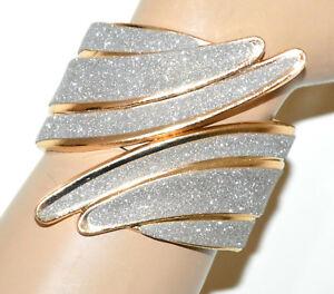 男女兼用アクセサリー, その他  bracciale rigido oro dorato donna brillantinato argento schiava luccicante bb29