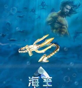 男女兼用アクセサリー, その他  aquaman trident ring 925 silver cosplay gift jewelry size 678