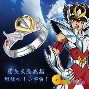 男女兼用アクセサリー, その他  saint seiya saint cloth myth seiya tianma bronze shield ring 925 silver cos gift