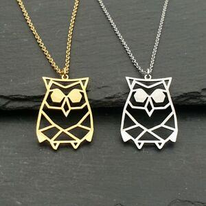 男女兼用アクセサリー, その他  collier en acier inoxydable pendentif hibou or ou argent 50cm oiseaux motif