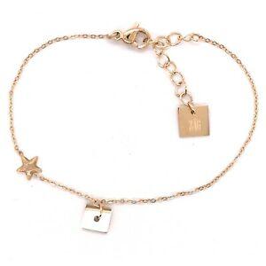 男女兼用アクセサリー, その他  bracelet zag bijoux acier dore