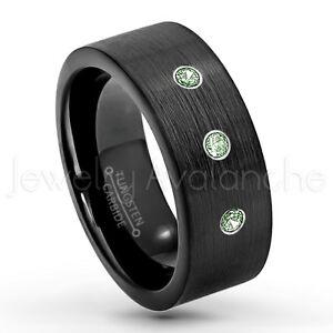 男女兼用アクセサリー, その他  021ctw alexandrite 3stone anello,giugno del mese ,tubo taglio tungsteno anello