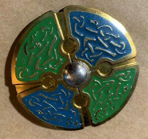 男女兼用アクセサリー, その他  bijou celte celtic jewel grande broche ton or cloisonne refb34