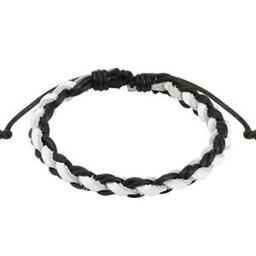 【送料無料】ジュエリー・アクセサリー ブラックレザーストラップ1 nero bianco intrecciato cinturino in pelle 190 250mm
