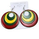【送料無料】ジュエリー・アクセサリー ファッションイヤリングラスタファリエンプレスイリーイヤリングレゲエジャマイカdonna moda orecchini rasta rastafari empress irie orecchino reggae jamaica xl