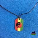 【送料無料】ジュエリー・アクセサリー ラベルラスタインヤンネックレスジャマイカレゲエcane etichetta rasta ying yang collana pnedente jah love jamaica reggae 1 sz per
