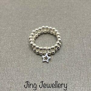 男女兼用アクセサリー, その他  impilamento anelli dargento, set di sterling 925 anelli elastici di perline con ciondo