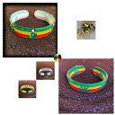 【送料無料】ジュエリー・アクセサリー セラシエジャマイカハイチブレスレットポルシーノレゲエグラスリーフラスタラスタファリselassie jamaica haiti braccialetto polsino reggae erba foglia rasta rastafari