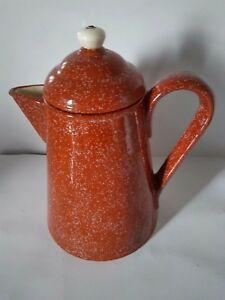 キッズ用食器, マグカップ・コップ  Vintage Large Brown Ceramic Coffee Tea Pot 10.5 T x 6 34 W