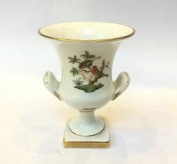 【送料無料】キッチン用品・食器・調理器具・陶器 ヘレン磁器ハンガリーウルン花瓶ロスチャイルド鳥柄Herend Porcelain Hungary Urn Vase Rothschild Birds Pattern Shape #6532