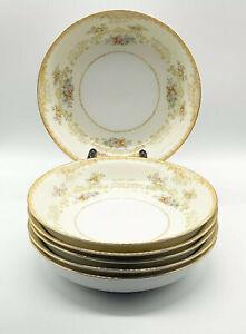 キッズ用食器, マグカップ・コップ  Vtg Noritake Morimura Mystery Pattern 35 Gold Rimmed Soup Bowls 7 14 Set of 6