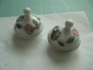 【送料無料】キッチン用品・食器・調理器具・陶器 ●ペンブローク・エイズリー磁器蓋中国トップ交換磁器トップスSet of 2 Pembroke Aynsley Porcelain China Lid Top replacement porcelain tops