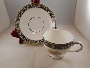 キッズ用食器, マグカップ・コップ  Tea Cup amp; Saucer, Wedgwood China, Runnymede Pattern (W4472), Floral Shells