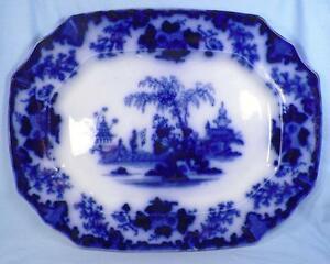 キッズ用食器, マグカップ・コップ  Scinde Flow Blue Platter Oriental Antique Magnificent J amp; G Alcock 1846 A Bea