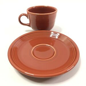 キッズ用食器, マグカップ・コップ  Fiestaware Papriak Tea Cup And Saucer 7 34oz