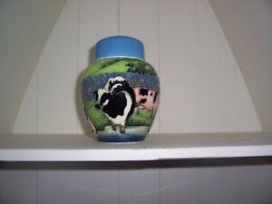 【送料無料】キッチン用品・食器・調理器具・陶器 古いタプトンウェアファームヤードデザイン、ジンジャージャー優れた条件値下げ価格Old Tupton Ware Farmyard Design, Ginger Jar excellent condition - REDUCED PRICE