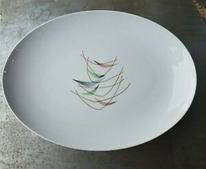 キッズ用食器, マグカップ・コップ  Mid Century Franciscan Ware Swing Time 13.25 x 9.5 Serving Platter B5