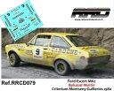 【送料無料】模型車 モデルカー デカールデカールフォードエスコートバルカザールマルティンラリーギレリーズdecaldecals 143 ford escort mk2; balcazarmartin; rally guilleries 1980