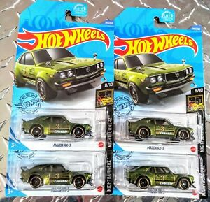 車・バイク, レーシングカー  2020 hot wheels mazda rx3 x 4 lot green nightburnerz