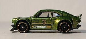 車・バイク, レーシングカー  hot wheels mazda rx3 olive green unspun oem plastic wheels