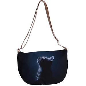 【送料無料】メッセンジャーキャンバスクロスボディビーチバッグcat kitten messenger canvas cross body beach bag p50 y0586