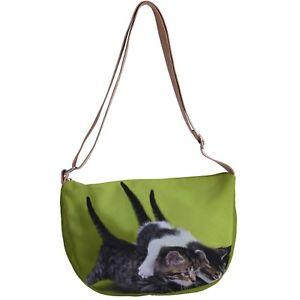 【送料無料】メッセンジャーキャンバスクロスボディビーチバッグcat kitten messenger canvas cross body beach bag p50 y0580
