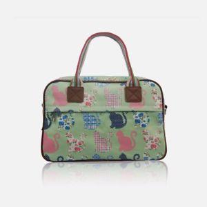 【送料無料】レディースマットコートグリーンシックジムバッグ ladies matte coated green shabby chic floral cat day, gym, maternity bag