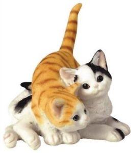 インテリア小物・置物, 置物  cat feline couple love small figurine collection animal collectible decor statue