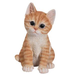 インテリア小物・置物, 置物  animal collection life size orange tabby kitten figurine statue 7 78034;tall