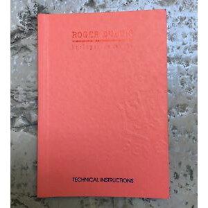 【免费送货】手表手表罗杰手册roger dubuis罕见技术手册说明手册rd 03 rd 29 rd 39 nos