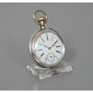 [免费送货]手表手表银色Pocket Breguet螺旋