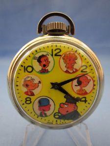 【送料無料】腕時計 ウォッチヴィンテージポパイオリーブオイルアメリカポケットウォッチ